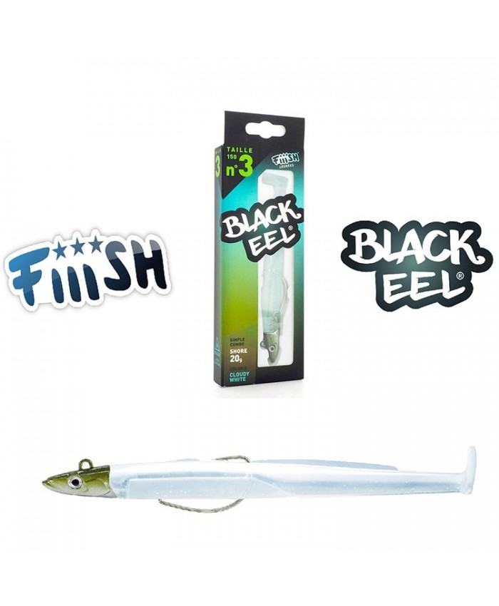 FIIISH BLACK EEL 150 №3   Simple Combo Shore Cloudy White - Изкуствени примамки