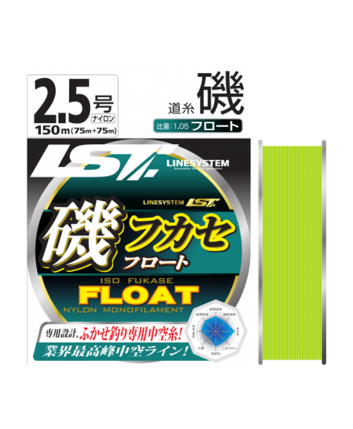 ISO FUKASE FLOAT NYLON - 150M  - Монофил