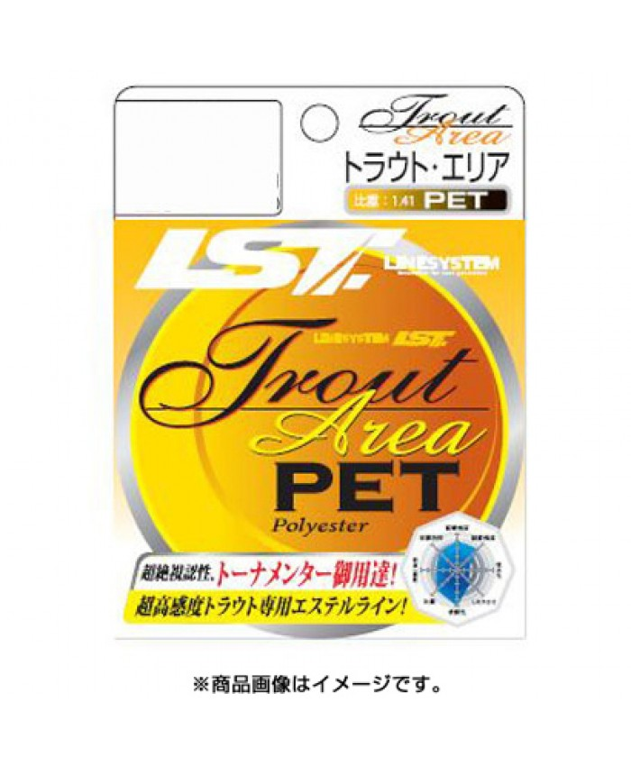 TROUT ARERA PET NATURAL / YELLOW - 120M - Монофил