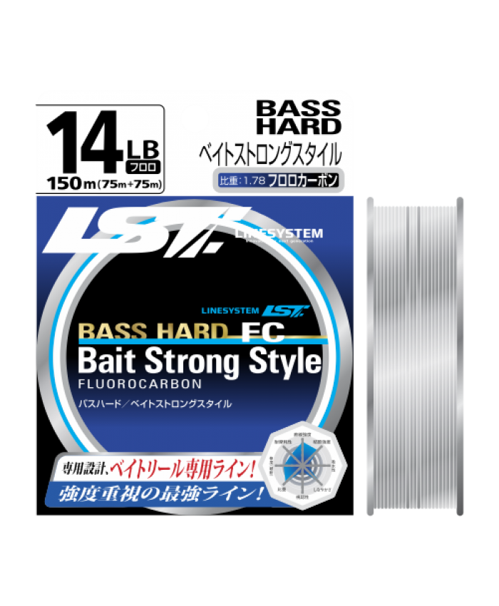 LINESYSTEM BASS HARD BAIT STRONG STYLE - 150M ФЛУОРОКАРБОН - Флуорокарбони