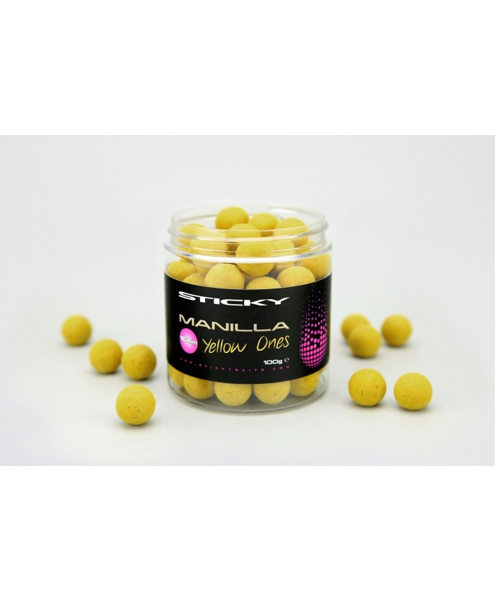 Sticky Baits Manilla Yellow Pop Ups 12mm  - Захранки