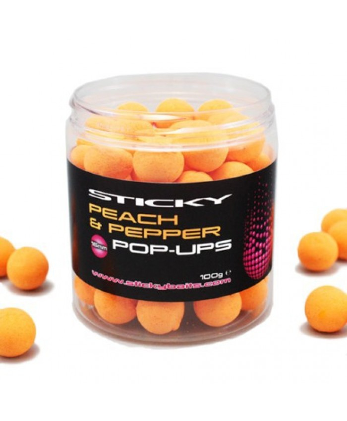 Sticky Baits Peach & Pepper Pop-Ups 16mm  - Захранки